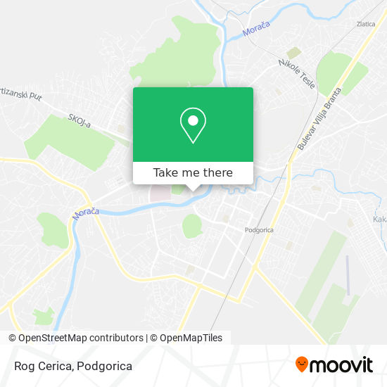 Rog Cerica map