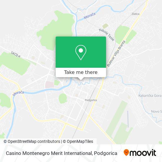 Casino Montenegro Merit International map
