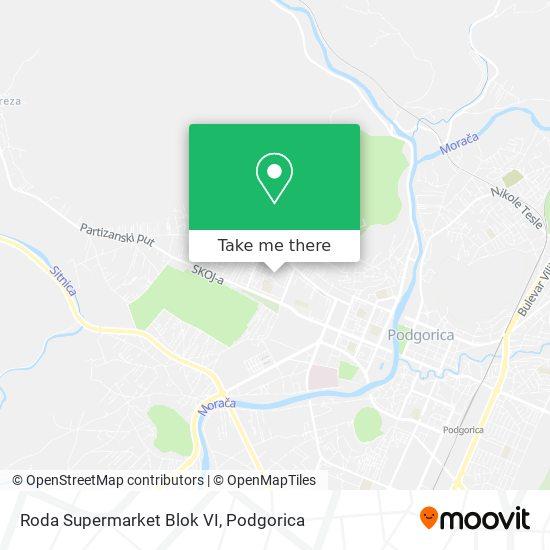 Roda Supermarket Blok VI map