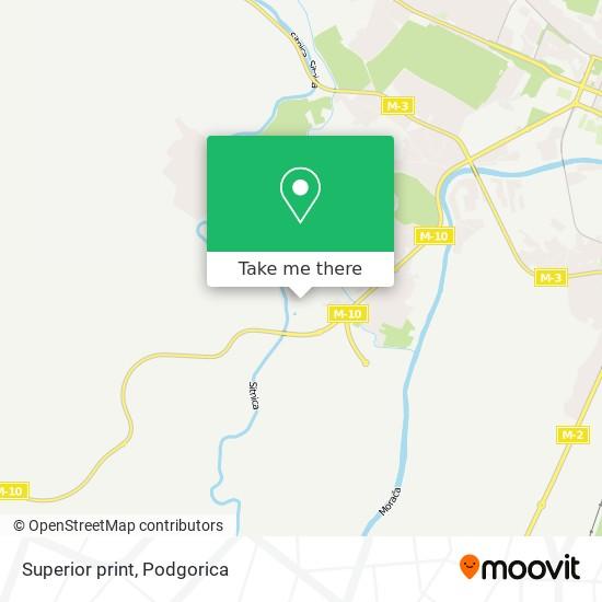 Superior print map