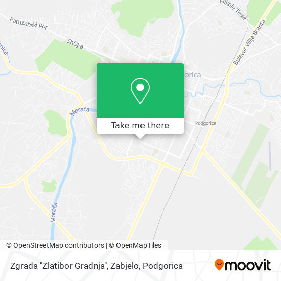 """Zgrada """"Zlatibor Gradnja"""", Zabjelo map"""