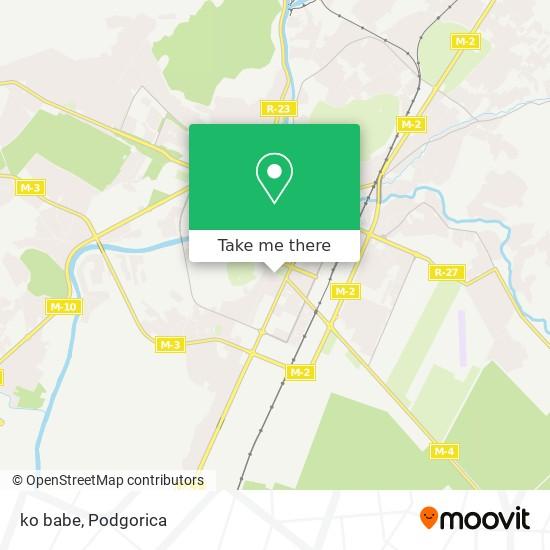 ko babe map