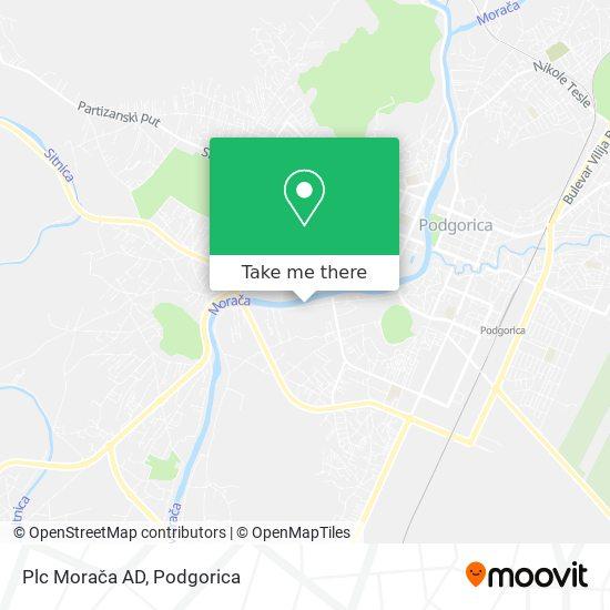 Plc Morača AD map