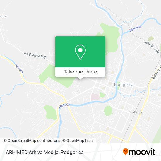 ARHIMED Arhiva Medija map