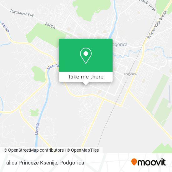 ulica Princeze Ksenije map