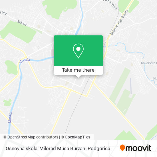 Osnovna skola 'Milorad Musa Burzan' map