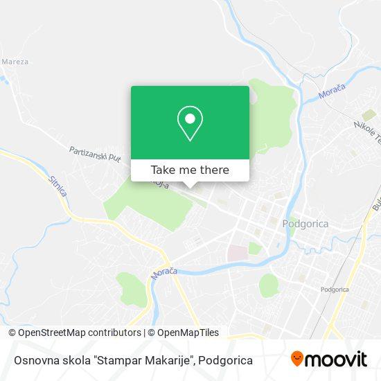 """Osnovna skola """"Stampar Makarije"""" map"""
