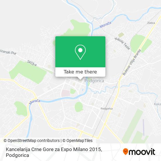 Kancelarija Crne Gore za Expo Milano 2015 map