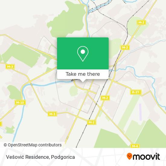 Vešović Residence map
