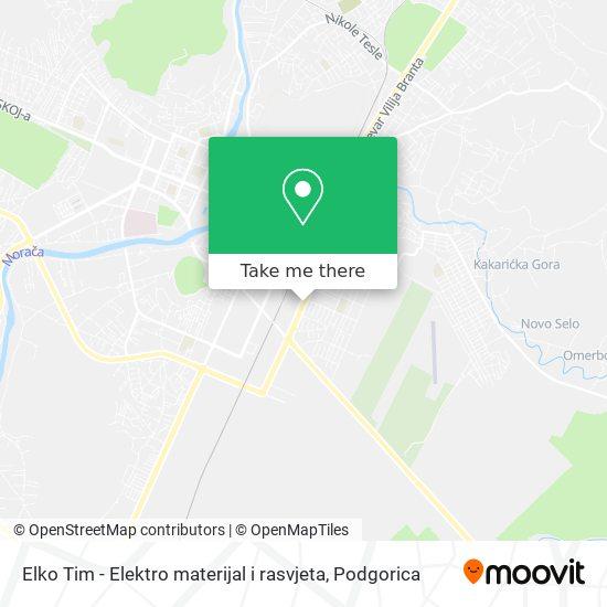 Elko Tim - Elektro materijal i rasvjeta map
