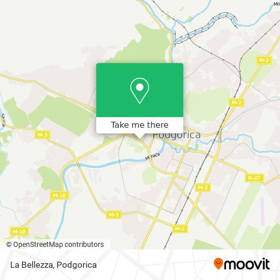 La Bellezza map