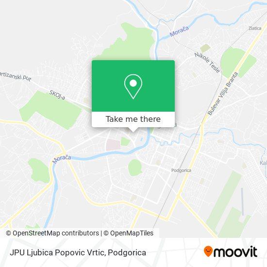 JPU Ljubica Popovic Vrtic map