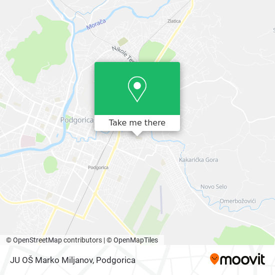 JU OŠ Marko Miljanov map