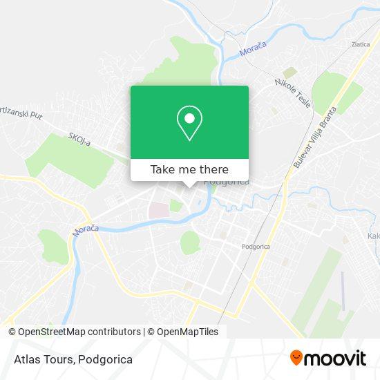 Atlas Tours map