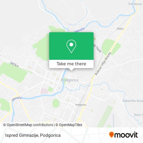 Ispred Gimnazije map