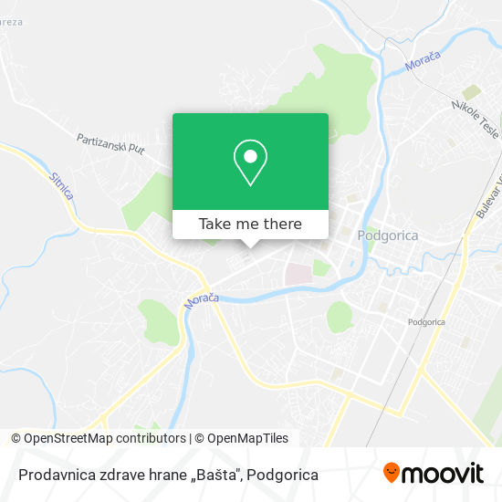 """Prodavnica zdrave hrane """"Bašta"""" map"""