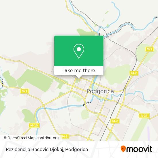 Rezidencija Bacovic Djokaj map