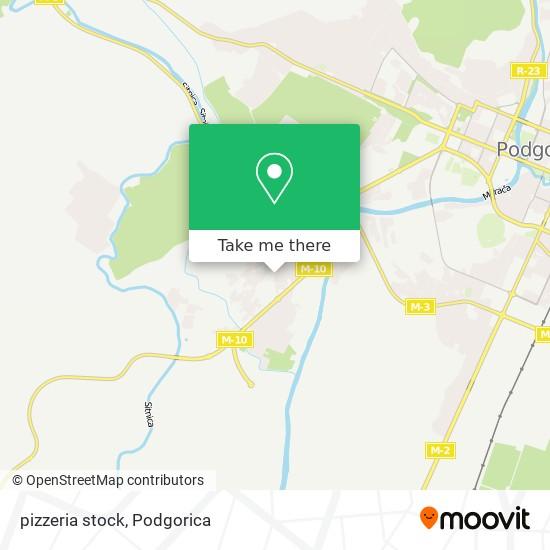 pizzeria stock map