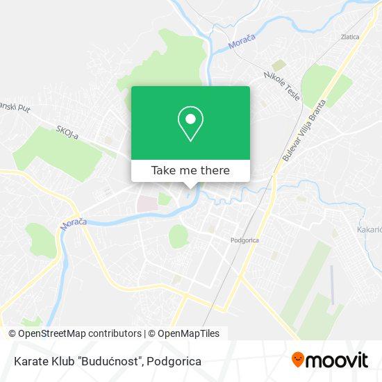 """Karate Klub """"Budućnost"""" map"""