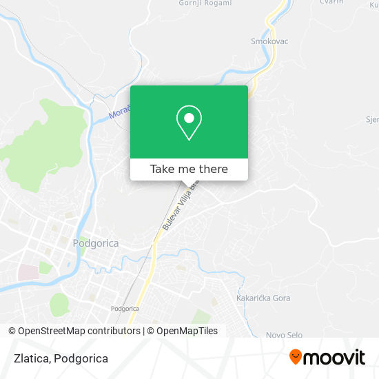 Zlatica map