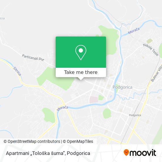 "Apartmani ""Tološka šuma"" map"