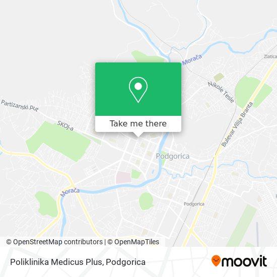 Poliklinika Medicus Plus map