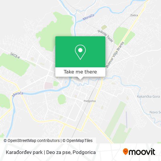Karađorđev park   Deo za pse map