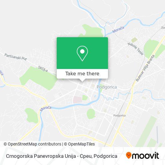 Crnogorska Panevropska Unija - Cpeu map