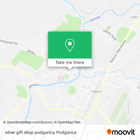 silver gift shop podgorica map