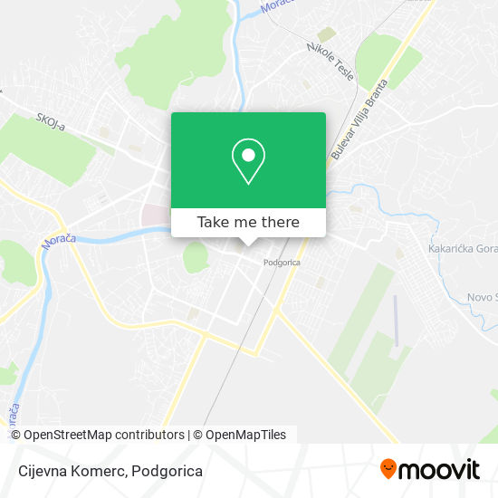 Cijevna Komerc map