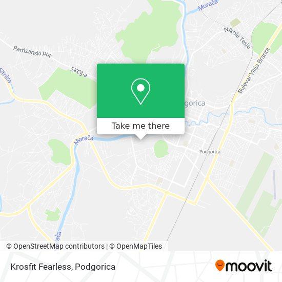 Krosfit Fearless map