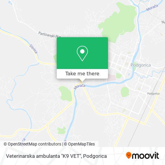 """Veterinarska ambulanta """"K9 VET"""" map"""