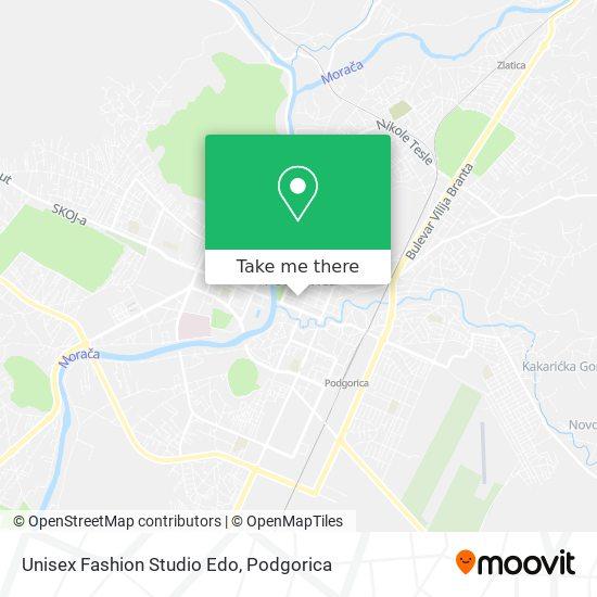 Unisex Fashion Studio Edo map