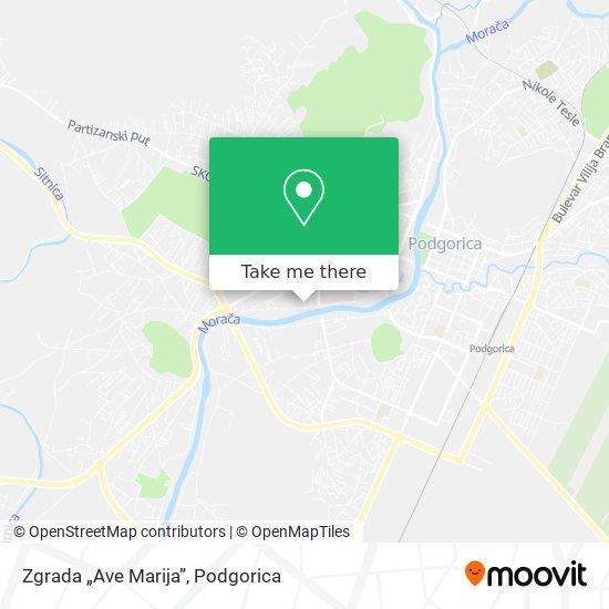 "Zgrada ""Ave Marija"" map"