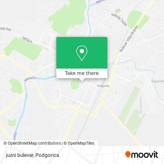 juzni bulevar map