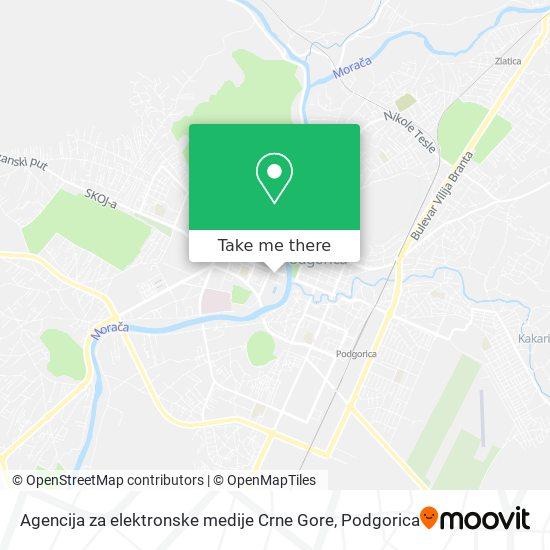 Agencija za elektronske medije Crne Gore map