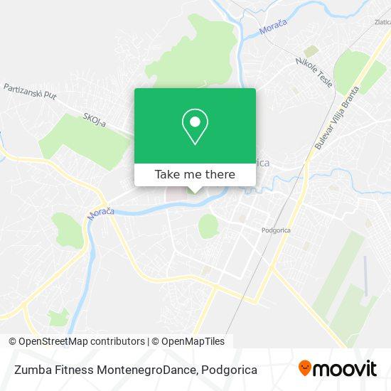 Zumba Fitness MontenegroDance map