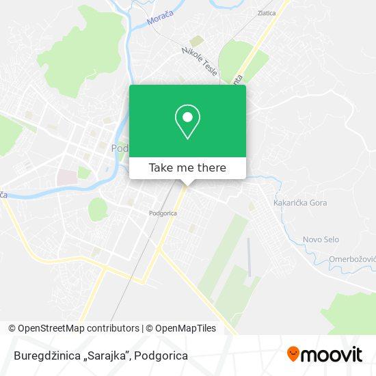 """Buregdžinica """"Sarajka"""" map"""