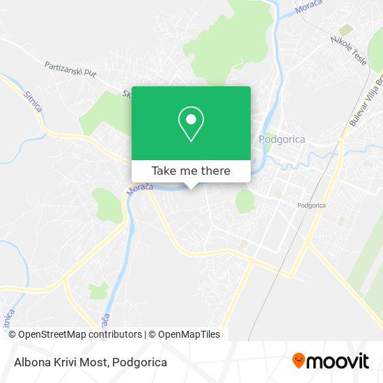 Karta Albona Krivi Most