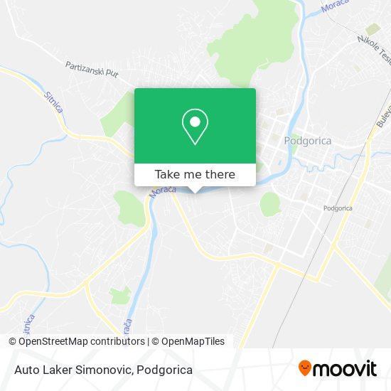 Karta Auto Laker Simonovic