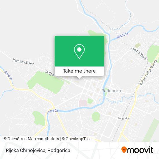 Rijeka Chrnojevica map
