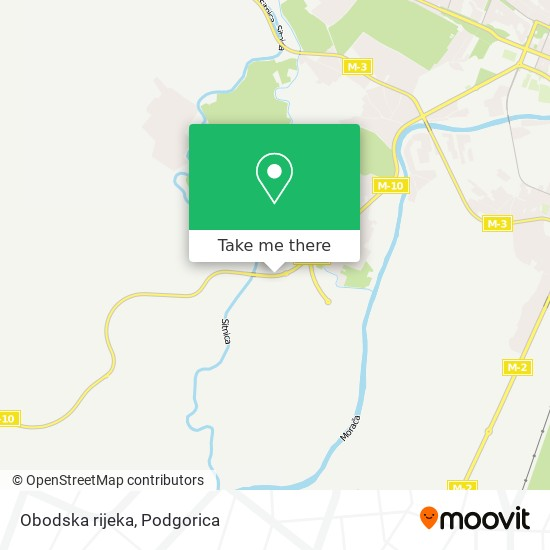 Obodska rijeka map