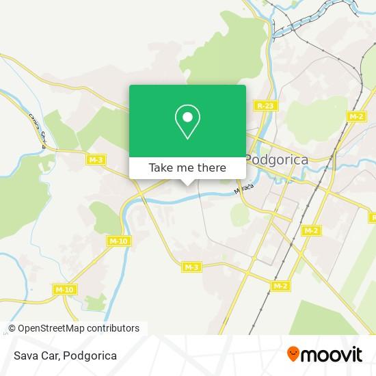 Sava Car map