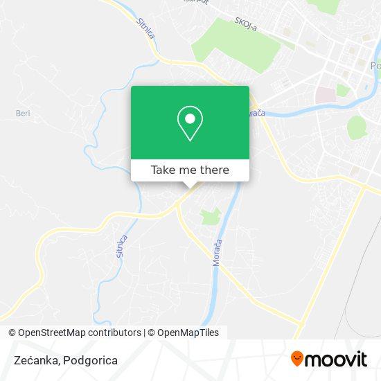 Zećanka map