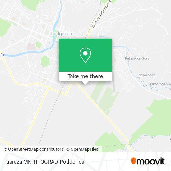 garaža MK TITOGRAD map