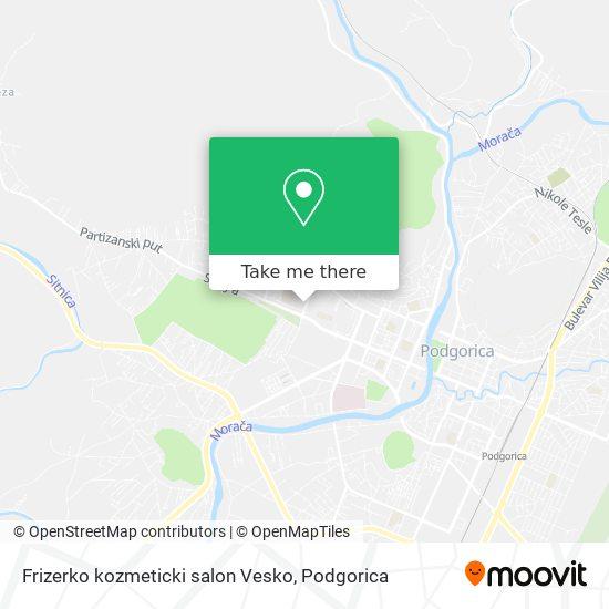 Frizerko kozmeticki salon Vesko map