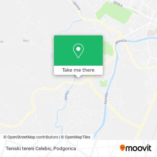 Teniski tereni Celebic map