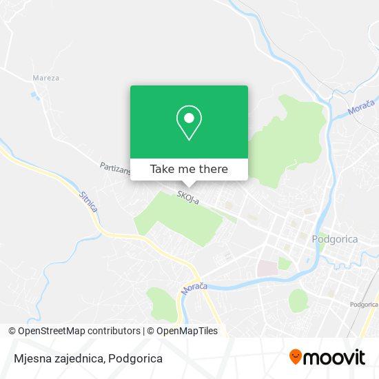 Mjesna zajednica map
