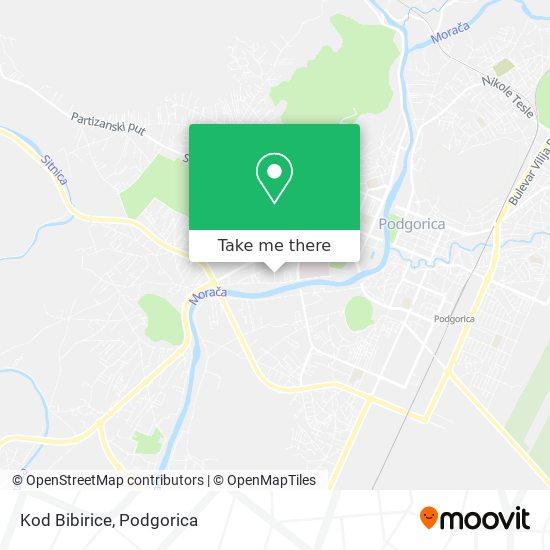 Kod Bibirice map