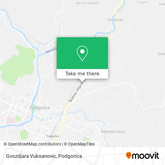 Gvozdjara Vuksanovic map